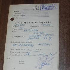 De colectie AVIZ MEDICO-SPORTIV PENTRU ARBITRU FOTBAL 1984 - Echipament fotbal