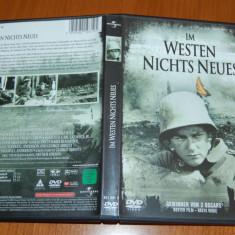 DVD ORIGINAL - ALL QUIET ON THE WESTERN FRONT 1930 - 2 PREMII OSCAR - Film drama Altele, Engleza