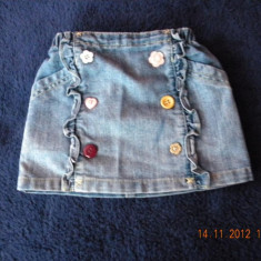 Fustita jeans Next, mar 6-9 luni, Culoare: Albastru