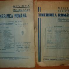 Revista Societatii Tinerimea Romana - 2 numere, ianuarie si decembrie 1930 - Revista culturale