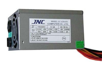 В качестве примера можно привести блок питания L&C LC-A250ATX фирмы JNC (рис. 2.4).  Пиковая мощность такого БП равна...