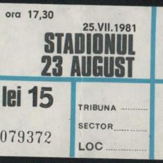 Bilet Universiada Bucuresti 1981