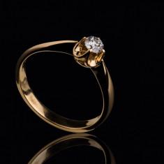 Inel de logodna solitar (solitaire) diamant 0.32 ct