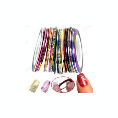 Set benzi decorative pentru modele unghii - manichiura - 10 buc