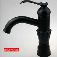 210214 Baterie robinet baie chiuveta model clasic negru