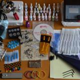 Kit Tattoo  profesional cu 2 masini si sursa dubla digitala plus kit de 10 culori+geanta cadou ,tatoo,aparat de tatuat ,tattoo