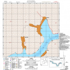 Harta de navigatie fluviala (Flv. Dunarea De la PF1 la Bazias 15 planse sc. 1:25000)