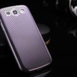 Husa / toc protectie Samsung Galaxy S3 100% aluminiu perforat, 0.3 mm, mov, Metal / Aluminiu