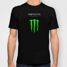 OFERTA! Tricou Casual Monster Energy Negru / Verde - Tricou barbati, Marime: S, M, L, XL, XXL, Culoare: Rosu, Maneca scurta, Bumbac