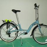 Bicicleta pliabile Dahon, 12 inch, 24 inch, Numar viteze: 7, Aluminiu, Alb-Albastru - Bicicleta dahon briza D7 frumoasa