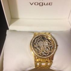 Ceas dama Vogue suflat cu aur si cristale swarovski