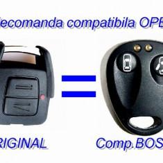 Telecomanda OPEL 2 butoane 433Mhz MegaMOS BOSCH RK129 RTT D X1151 MPT 1340 RADIO CONTROL - Carcasa cheie