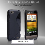 LIVRARE GRATUITA IN TARA!! HUSA eleganta Silicon S-LINE HTC One V - 2 CULORI DISPONIBILE (NEGRU SAU TRANSPARENT) + FOLIE PROTECTIE ECRAN - Husa Telefon