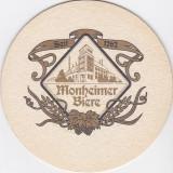 Suport de pahar / Biscuite MONHEIMER BIERE - Cartonas de colectie