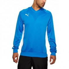 Bluza PUMA - sport - haine barbati - bluza originala Puma -maneca lunga - Bluza barbati Puma, Marime: L, Culoare: Albastru, La baza gatului, Poliester