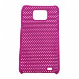 Husa plastic Hard case Grid mesh Samsung I9100 Galaxy S II S2 i9105 Plus - Husa Telefon Samsung, Roz