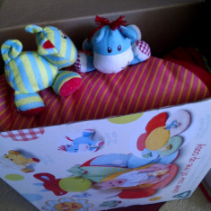 Centru de joaca bebelusi ferma cu animale - Jucarie pentru patut Baby Dreams, Unisex, Multicolor, Textil
