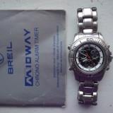 BREIL Professional Diving Cronograph Alarm - Ceas barbatesc Breil, Casual, Quartz, Inox, Pentru scufundari (Diver)