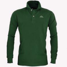 Bluza KAPPA POLO Originala - haine barbati - bumbac- maneca lunga- L - Bluza barbati Kappa, Marime: L, Culoare: Verde