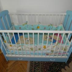 Patut lemn pentru bebelusi, Altele, 120x60cm, Albastru - Patut bebe Bretco