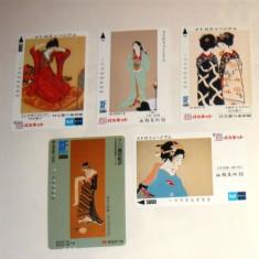 Set 5 cartele / carduri diverse - ARTA, COSTUME GHEISA - 2+1 gratis toate licitatiile - RBK2375 - Cartela telefonica straina