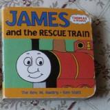 Carte educativa James and the Rescue Train mini cartonata Thomas the Tank Engine Locomotiva story ilustrat