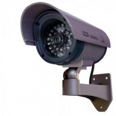 Camera falsa - CAMERA CAMERE VIDEO SUPRAVEGHERE FALSE SET 2 BUC model de exterior/interior cu leduri pentru vedere nocturna : foarte realista