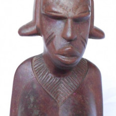 Arta din Africa - NUD SCULPTURA FEMEIE AFRICANA, BUST, NUD 23CM sculptura lemn nobil Africana