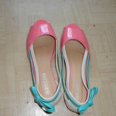Sandale vesele de vara viu colorate - Sandale dama, Marime: 40, Culoare: Roz, Roz
