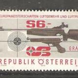 AUSTRIA 1979 - PUSCA SI PISTOL TIR SPORTIV, timbru nestampilat D254