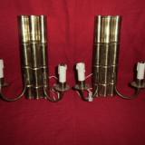 Metal/Fonta - Pereche aplice alama cu 2 brate 33, 5x 29 cm