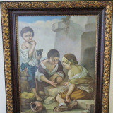 Reproducere - ULEI PANZA VECHI CCA 60-70 ANI COPII JUCAND JARURI