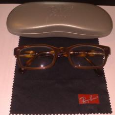 Rama ochelari de vedere Ray Ban tortoise ORIGINALA - Rama ochelari Ray Ban, Unisex, Maro, Wayfarer, Plastic, Rama intreaga
