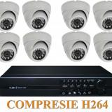 Sistem de supraveghere 8 camere interior si DVR SCV-8000, Suporta supraveghere si de pe TELEFONUL MOBIL