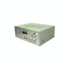Amplificator audio AV-382, cu player MP3 si telecomanda, 2x25W /6068