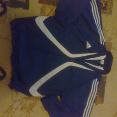 VAND BLUZA ADIDAS ORIGINALA - Bluza barbati Adidas, Marime: L, Culoare: Albastru, Cu fermoar, Nylon