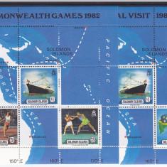 Navigatie, vapoare, harti, Solomon Islands. - Timbre straine, America Centrala si de Sud
