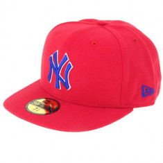 Sapca Barbati - Sapca New Era NY Yankees rosie cu albastru marimea 7 1/2