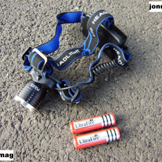 Lanterna Frontala cu MEGA Zoom si Led CREE T6 Original - Gama POLICE - Pachet Complet NOU