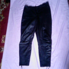Pantaloni dama, Lungi, Marime: 42, Piele - PANTALONI PIELE ROKER SAU MOTO LICHIDARE STOC