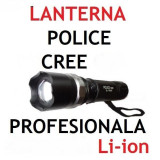 Lanterna Swat Police Originala. Acumulator Li-ion. Din Metal. IncarcatorPriza + Auto.