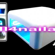 Lampa UV 36 W, Lampa roz sau alba, Lampa unghii false Manichiura gel uv, oja permanenta Unghii false gel - Lampa uv unghii