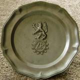 Farfurie decorativa / de colectie - zinc - marcata - Metal/Fonta