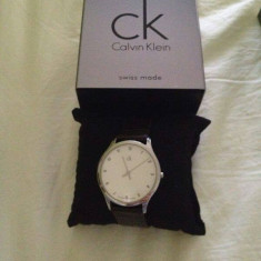 Ceas Calvin Klein dama - Ceas dama Calvin Klein, Elegant, Quartz, Piele, Nou, 30 m / 100 ft / 3 ATM
