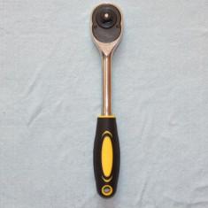 Cheie cu CLICHET marime mare pentru chei tubulare lungime 26cm cu patratul de intrare de 13mm - Cheie clichet