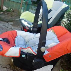 2 scaune copii auto o-13kg si 0 -19kg chicco si primii pasi - Scaun auto bebelusi grupa 0+ (0-13 kg) Chicco, 0-6 luni, Portocaliu, Isofix, In sensul directiei de mers