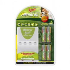 Acumulatori/Bateri reincarcabile Memorex 4 buc 2100 Mah Ready to use + incarcator Memorex Gratuit - Baterie Aparat foto, Tip AA (R6)