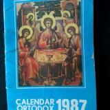 Calendar ortodox Bucuresti 1987 - Calendar colectie