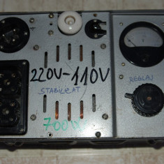 Autotransformator 220 V-110 V, militar, sovietic