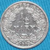 2083 GERMANIA 1/2 MARK 1905 J ARGINT MAI RARA FOARTE FRUMOASA, CEL MAI IEFTIN DE PE OKAZII.